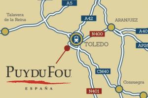 mapa 300x199 - ¿Vas a visitar Puy du Fou España? - Toledo Ap Alojamientos turísticos